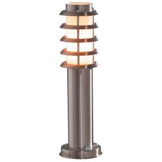 Konstsmide 7561-000 Trento Energiespar Sockelleuchte Edelstahl opales Acrylglas