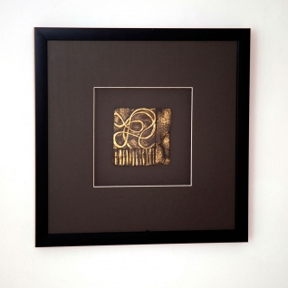 Holländer 306 3135 Wandbild Nuovo 1 Holz-Glas-Kunststein Schwarz-Gold