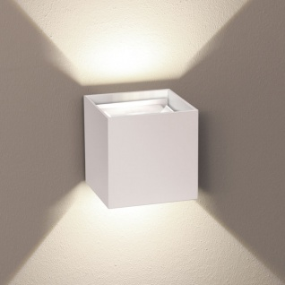 s.LUCE Ixa LED Wandleuchte + verstellbare Winkel Wandlampe weiss