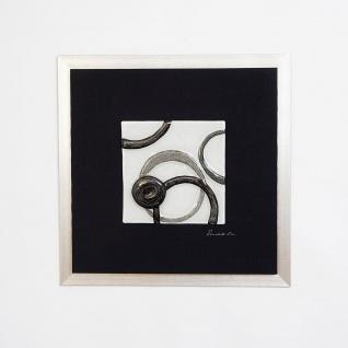 Holländer 306 3168 Wandbild Radiografa Holz-Leinwand-Glas Schwarz-Silber-Grau