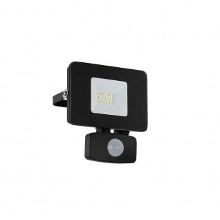 LED Aussenstrahler Faedo3 10W mit Sensor Schwarz
