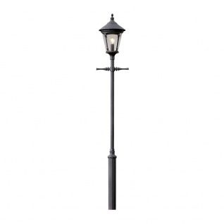 Konstsmide 570-750 Virgo Leuchtenkopf für Mastleuchte Schwarz rauchfarbenes Acrylglas