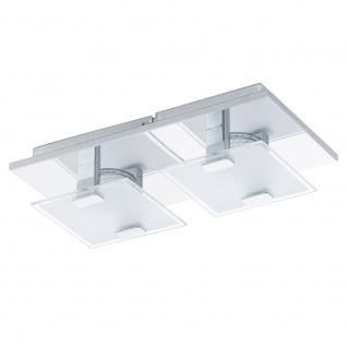 Eglo 93312 Vicaro LED Wand- & Deckenleuchte 2-flammig Weiß Klar Chrom