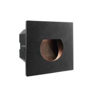 Abdeckung Rund Schwarz für LED-Einbauleuchte Steps Outdoor