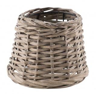 Eglo 49981 1+1 Vintage Bast Lampenschirm Ø 20cm Grau