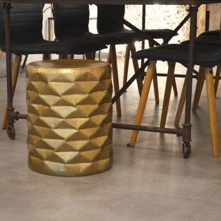 s.HOME Pinecone Alu Hocker Ø 35cm gold Alu-Tisch Stuhl Designer Sessel