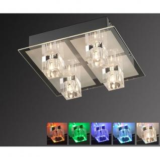 LeuchtenDirekt 50285-17 Oki LED Deckenleuchte 4 x G4 14W + 4 x LED 0, 36W RGBK Silberfarben - Vorschau 2
