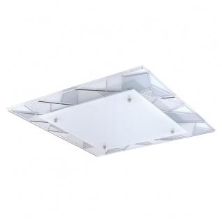 Eglo 94746 Pancento 1 LED Wand & Deckenleuchte 16 W Stahl Chrom Glas satiniert Weiss Grau