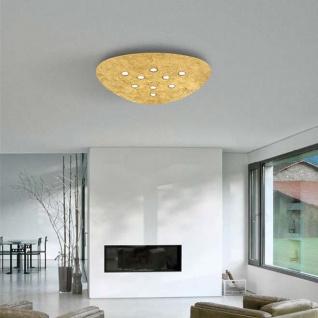 Nova Luce Triangolo LED Deckenleuchte Goldfolie Ø 65cm 45W 3000K Deckenlampe