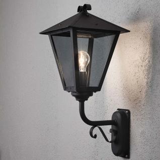 Konstsmide 434-750 Benu Aussen-Wandleuchte Schwarz rauchfarbenes Acrylglas