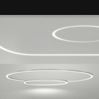 Panzeri Brooklyn Round LED-Ring halb 195cm 2130lm Weiß - Vorschau 4