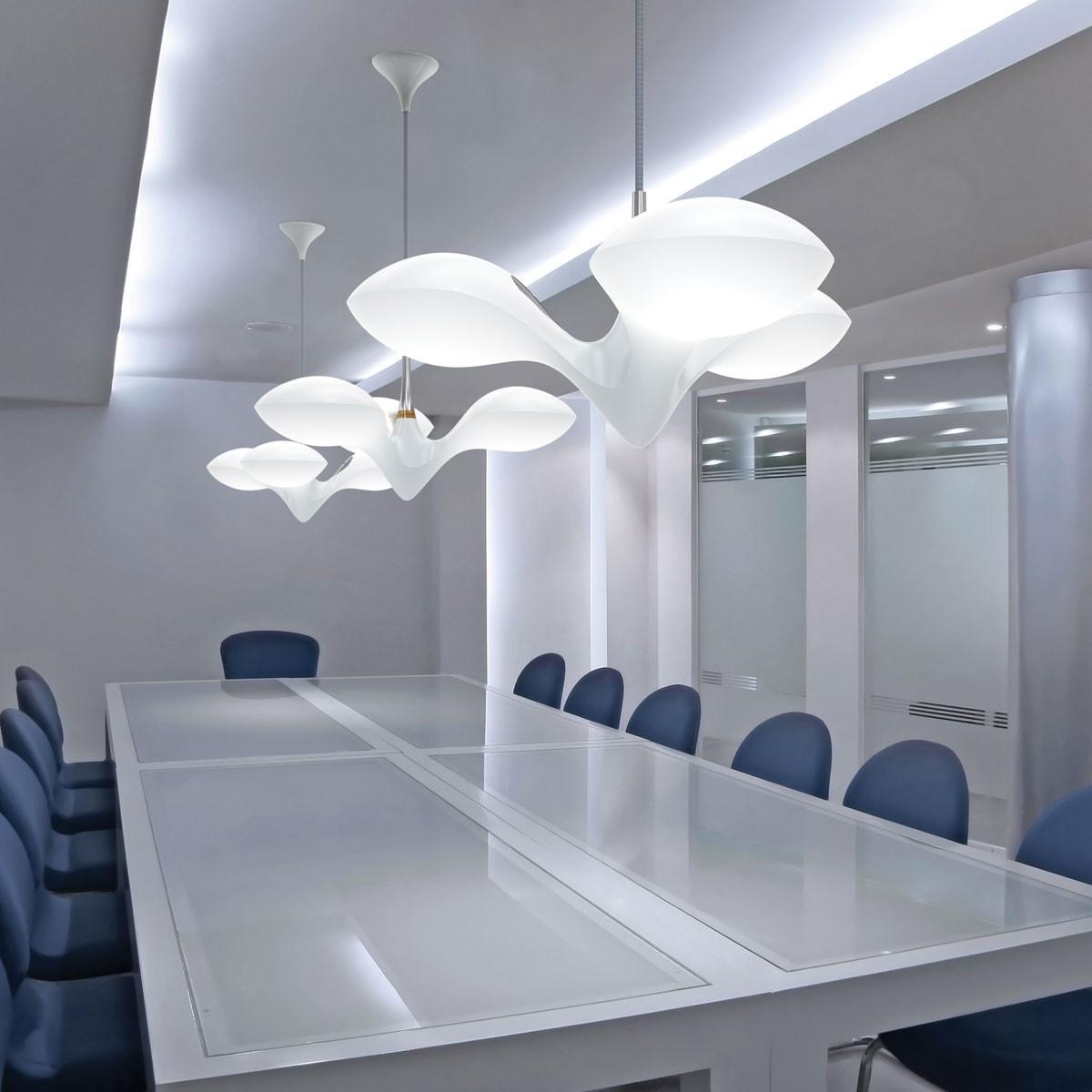 next enterprise led pendelleuchte 3 flammig chrom. Black Bedroom Furniture Sets. Home Design Ideas