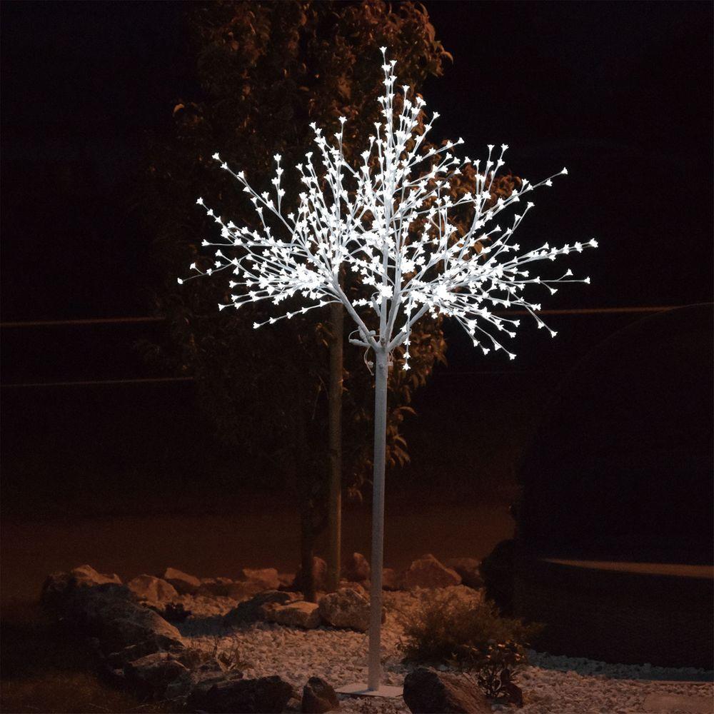 Xxl Led Dekobaum 250cm Kirschblütenoptik Ip44 Dekoleuchte Led Baum Gartenleuchte