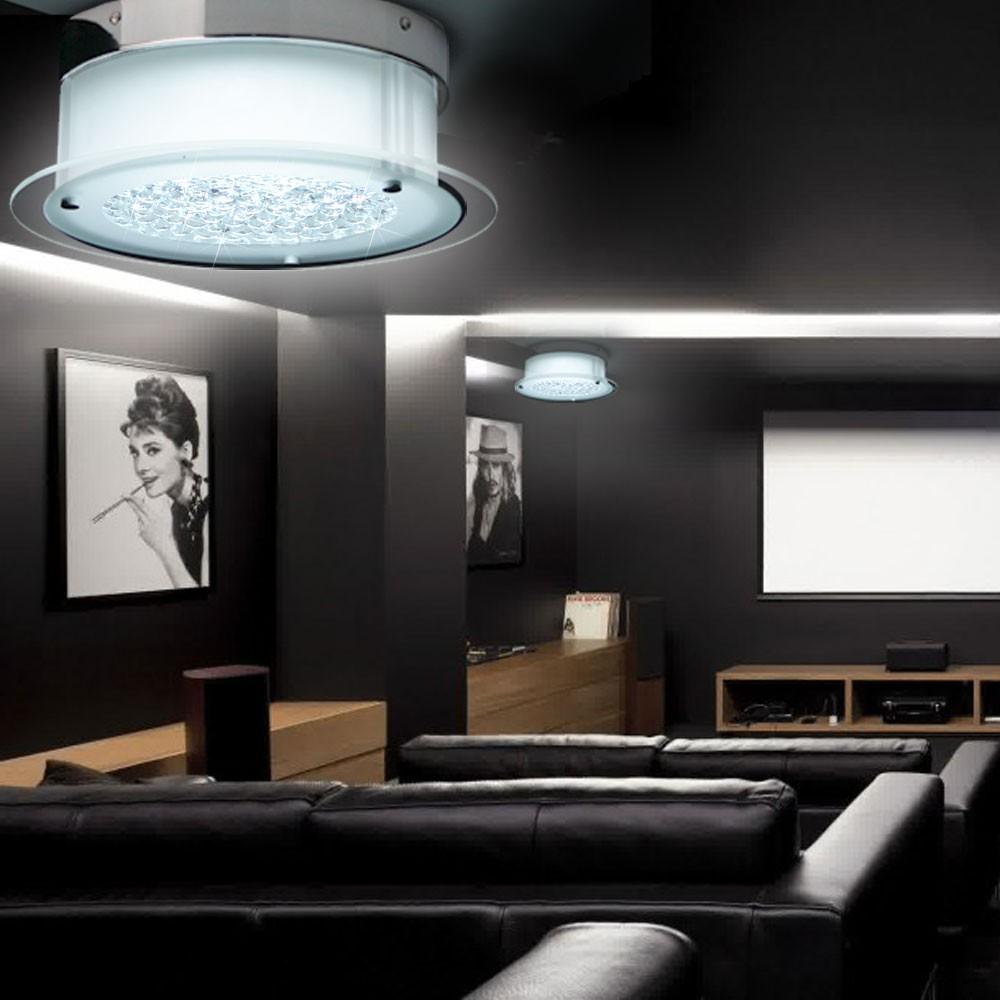 Licht-Trend Grease Grease Grease LED Deckenleuchte mit Kristall Deckenlampe 29f40c