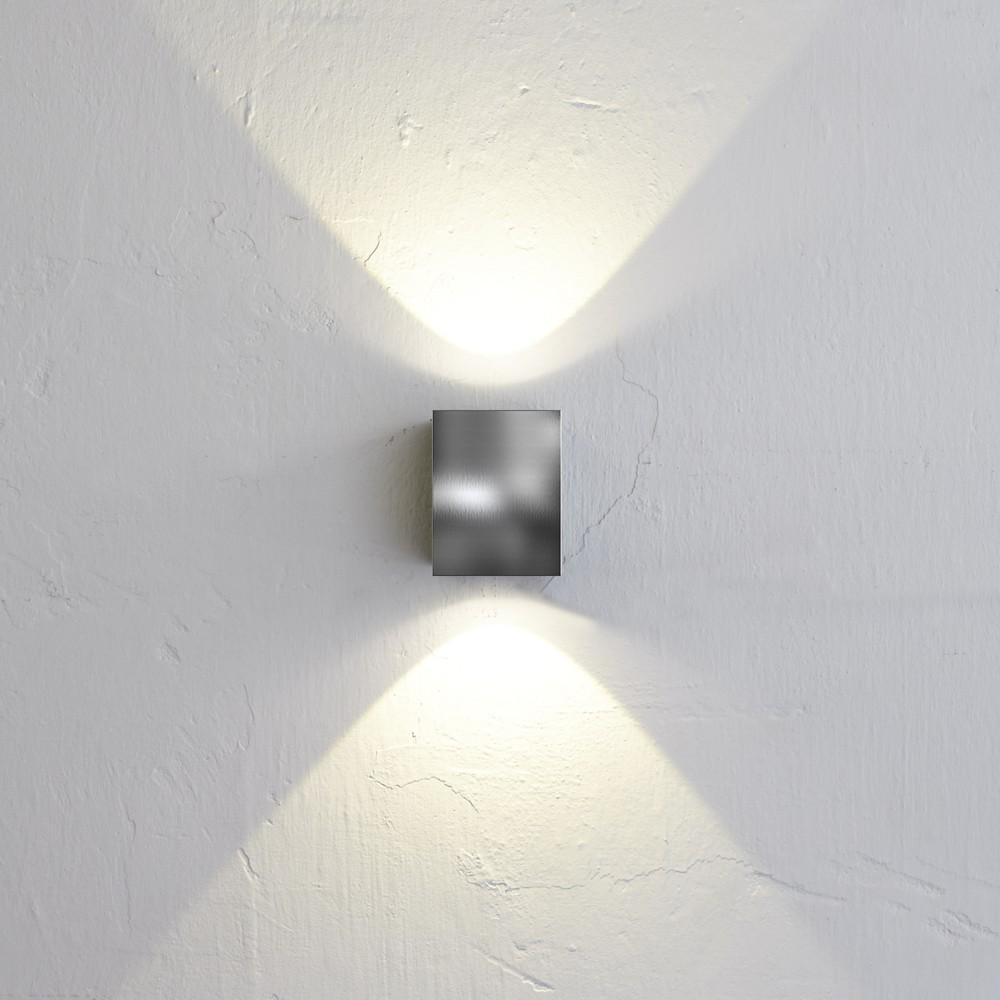 nordlux canto kubi led aussen wandleuchte edelstahl wandlampe aussen kaufen bei licht. Black Bedroom Furniture Sets. Home Design Ideas