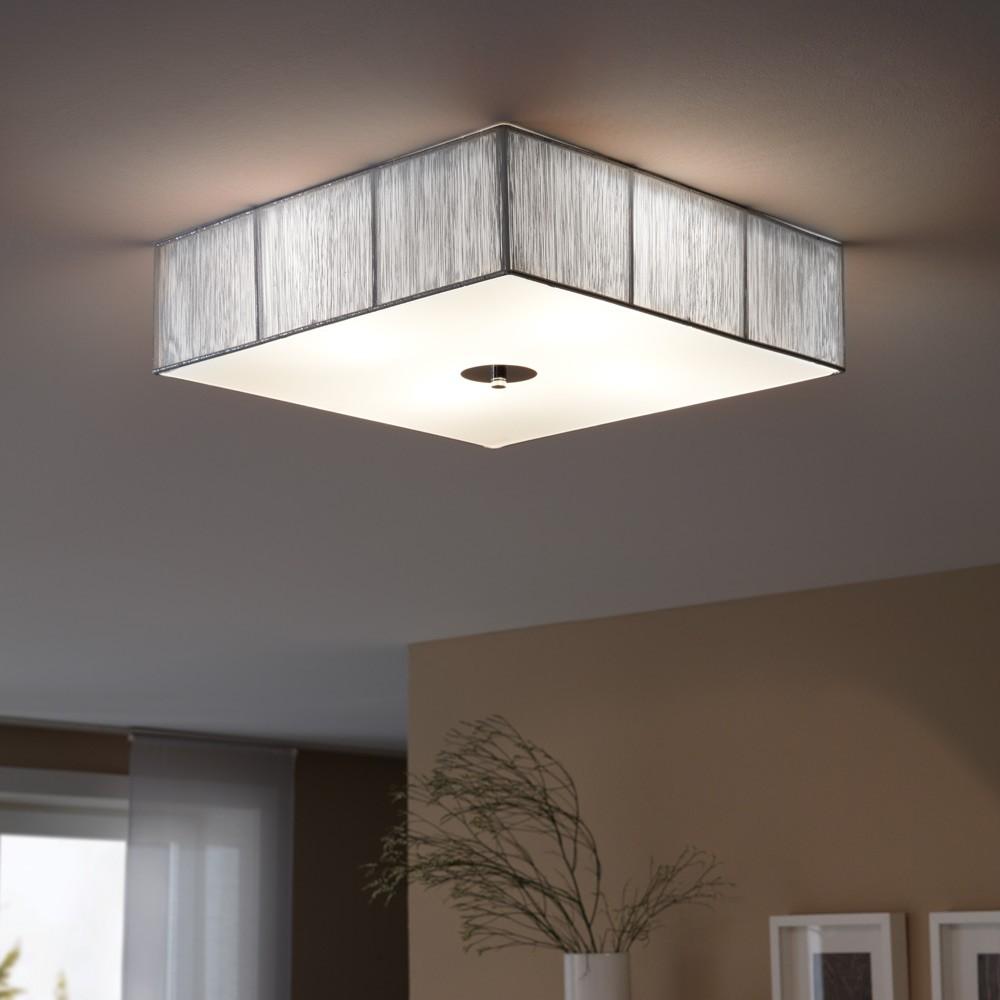 Amüsant Deckenlampe Silber Ideen Von Luce Twine Stoff-deckenleuchte 45x45cm 1
