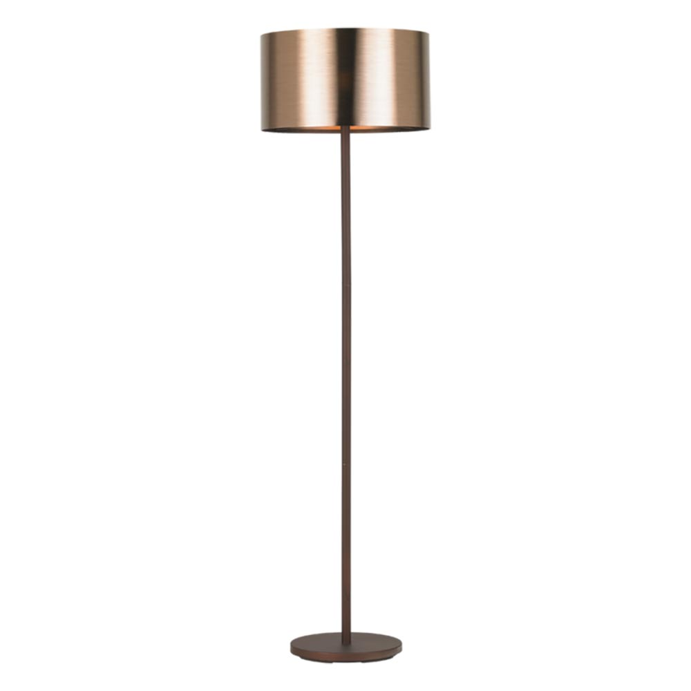 Stehleuchte Saganto 1 Braun Kupfer Wohnzimmerlampe Stehlampe