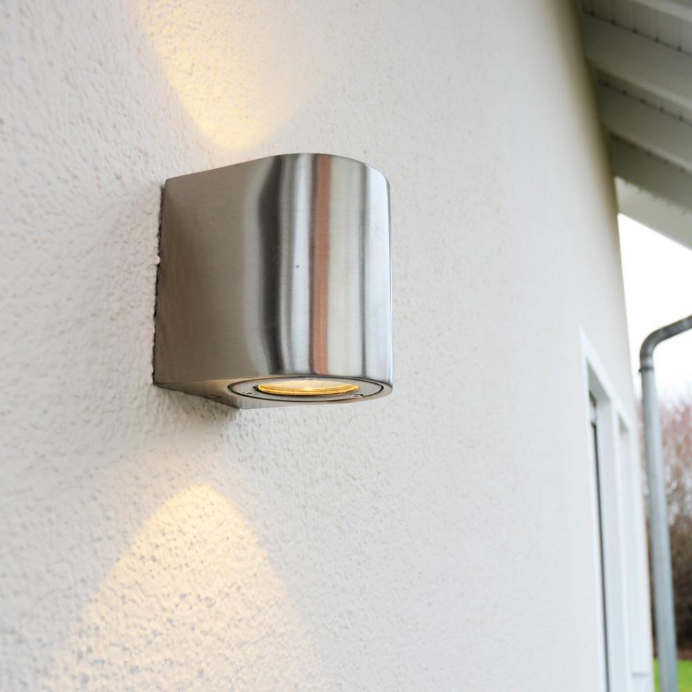 licht trend baleno led wandleuchte up down mit lichtfilter edelstahl wandlampe aussen. Black Bedroom Furniture Sets. Home Design Ideas
