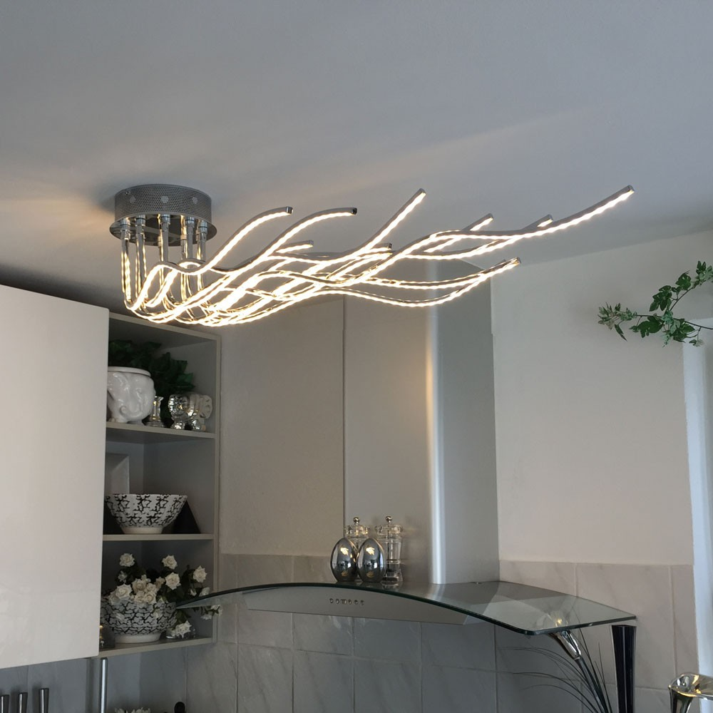 Wofi benett led deckenleuchte 2800 lumen 150 cm for Deckenleuchte deckenlampe