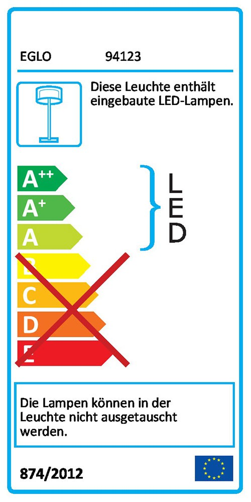 Eglo 94123 LED Edelstahl Aussen-Standleuchte Ariolla 3 x 2, 2, 2, 5W 22c3ee