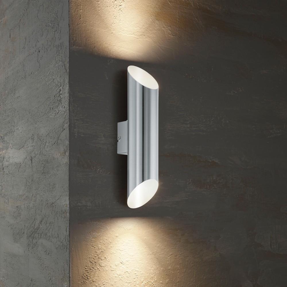 agolada led aussen wandleuchte 2 flammig edelstahl wandlampe aussen kaufen bei licht. Black Bedroom Furniture Sets. Home Design Ideas