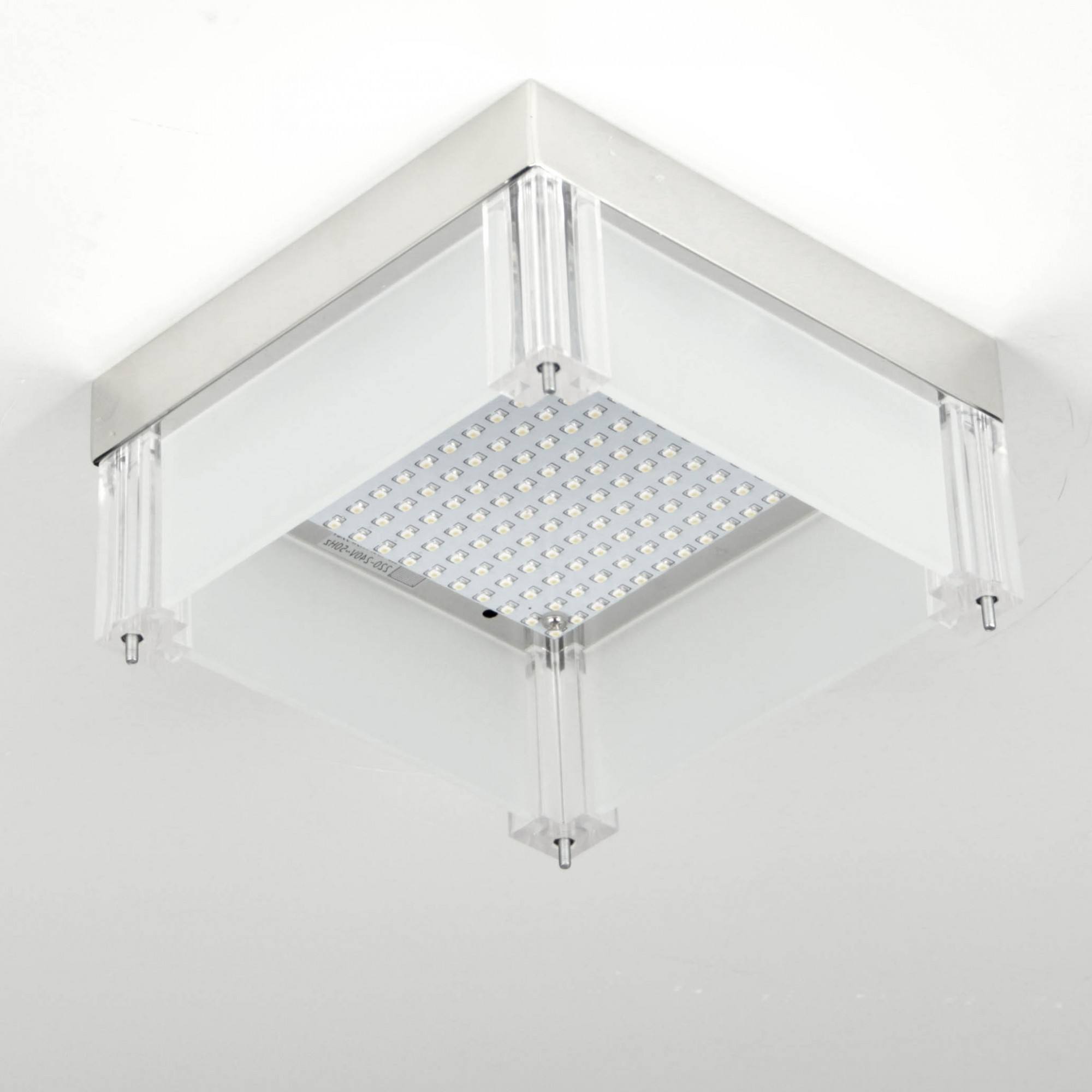 leah led deckenleuchte mit kristallen 28x28 cm 12w chrom deckenlampe kaufen bei. Black Bedroom Furniture Sets. Home Design Ideas