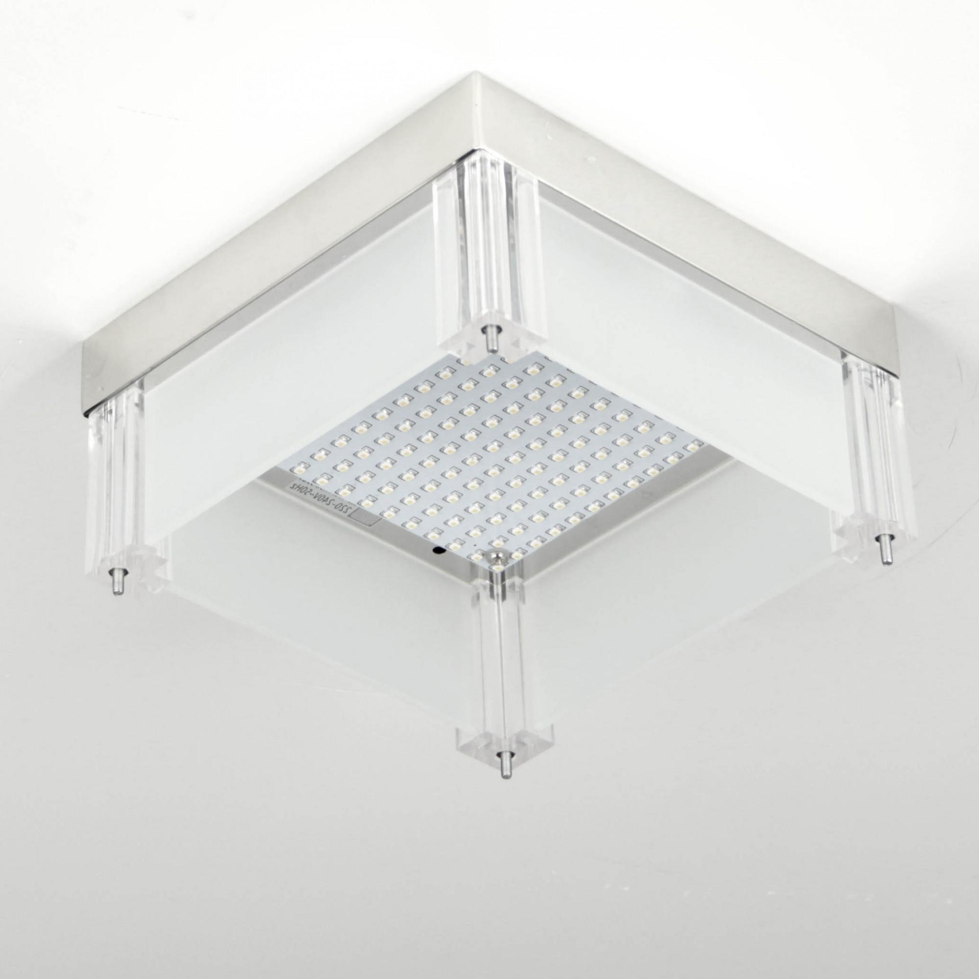 leah led deckenleuchte mit kristallen 28x28 cm 12w. Black Bedroom Furniture Sets. Home Design Ideas