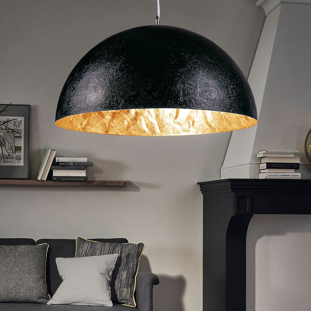s luce blister pendelleuchte 55 cm schwarz gold esstischlampe h ngeleuchte kaufen bei. Black Bedroom Furniture Sets. Home Design Ideas