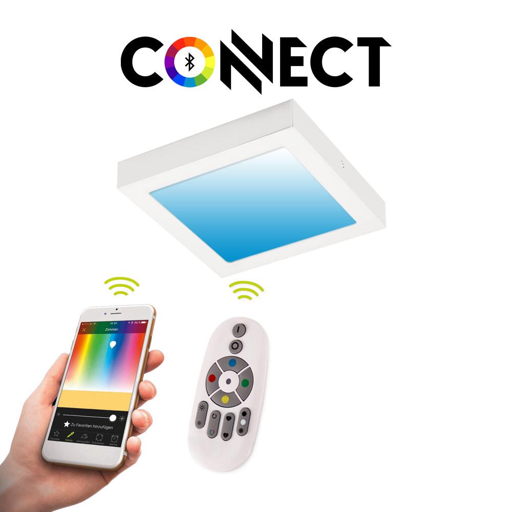Connect LED-Deckenleuchte 30x30cm Weiß 2300lm RGB+CCT LED ...
