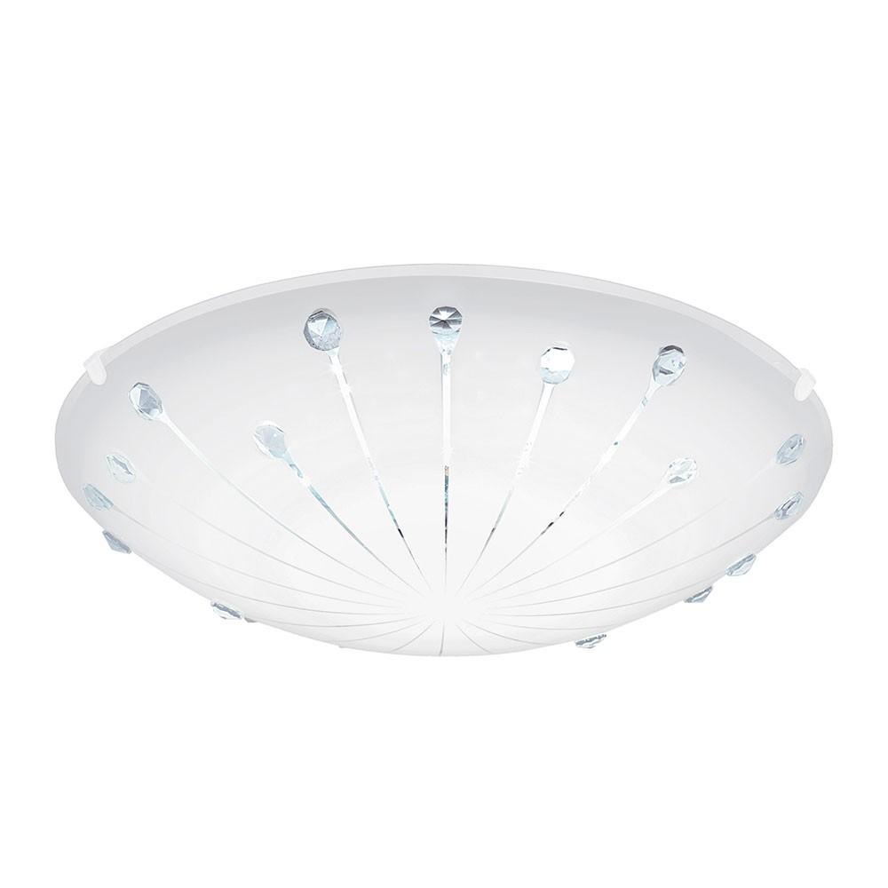 Weiss Klar Eglo 96089 Margitta 1 LED Deckenleuchte Ø 24cm 950lm Weiss