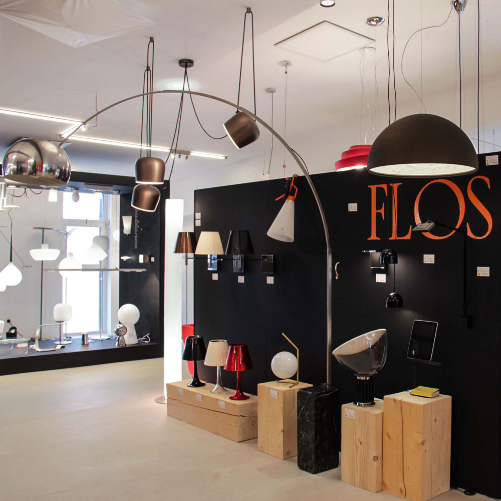 Flos Mayday Mehrzweckleuchte Schwarz Design Hangelampe Bodenlampe