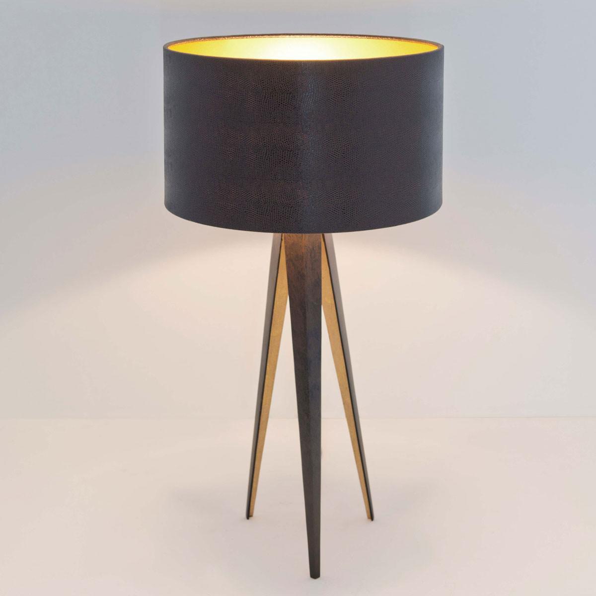 holl nder 300 k 12248 tischleuchte petra eisen braun. Black Bedroom Furniture Sets. Home Design Ideas