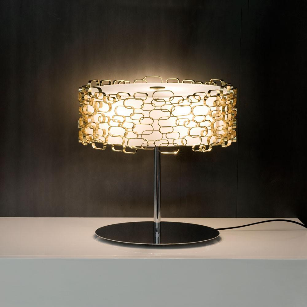 terzani glamour tischleuchte nickel tischlampe. Black Bedroom Furniture Sets. Home Design Ideas