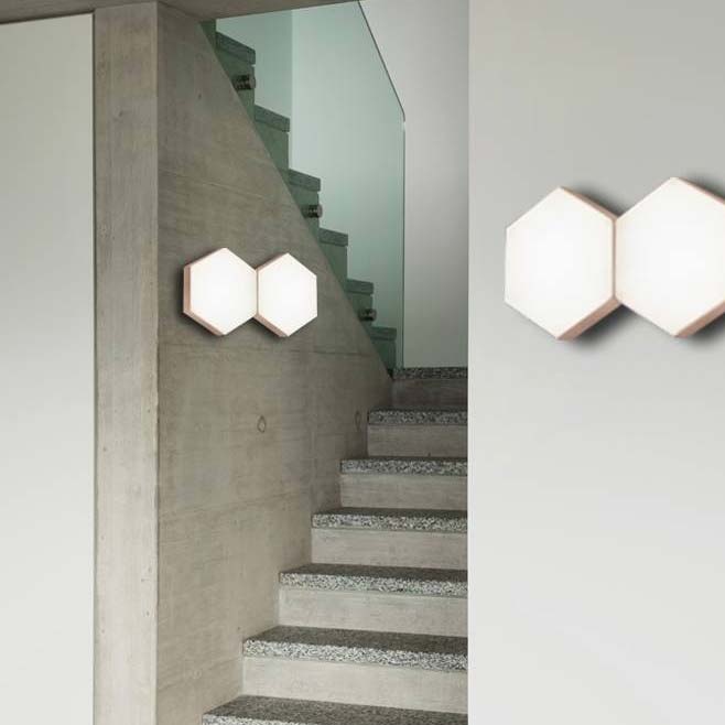 Nova Luce Pettine Design Led Wandleuchte 10w 3000k Satin Gold
