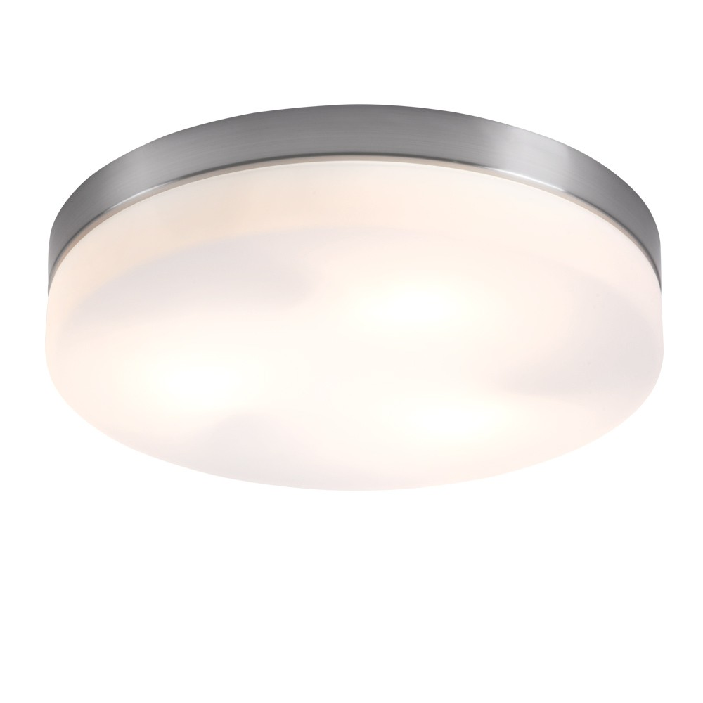 Globo 48402 Opal Deckenleuchte Nickel-Matt Glas opal 2x40W E27