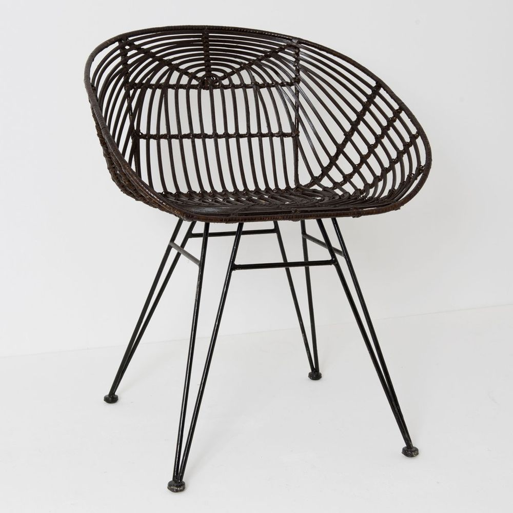 holl nder 358 2716 stuhl mit lehne seguito rattan metall. Black Bedroom Furniture Sets. Home Design Ideas
