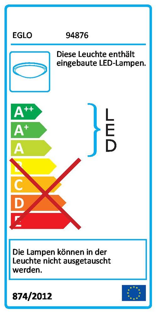 Eglo 94876 LED Aussen-Wand- & Deckenleuchte Sonella 1 1 1 820lm Anthrazit 057a67