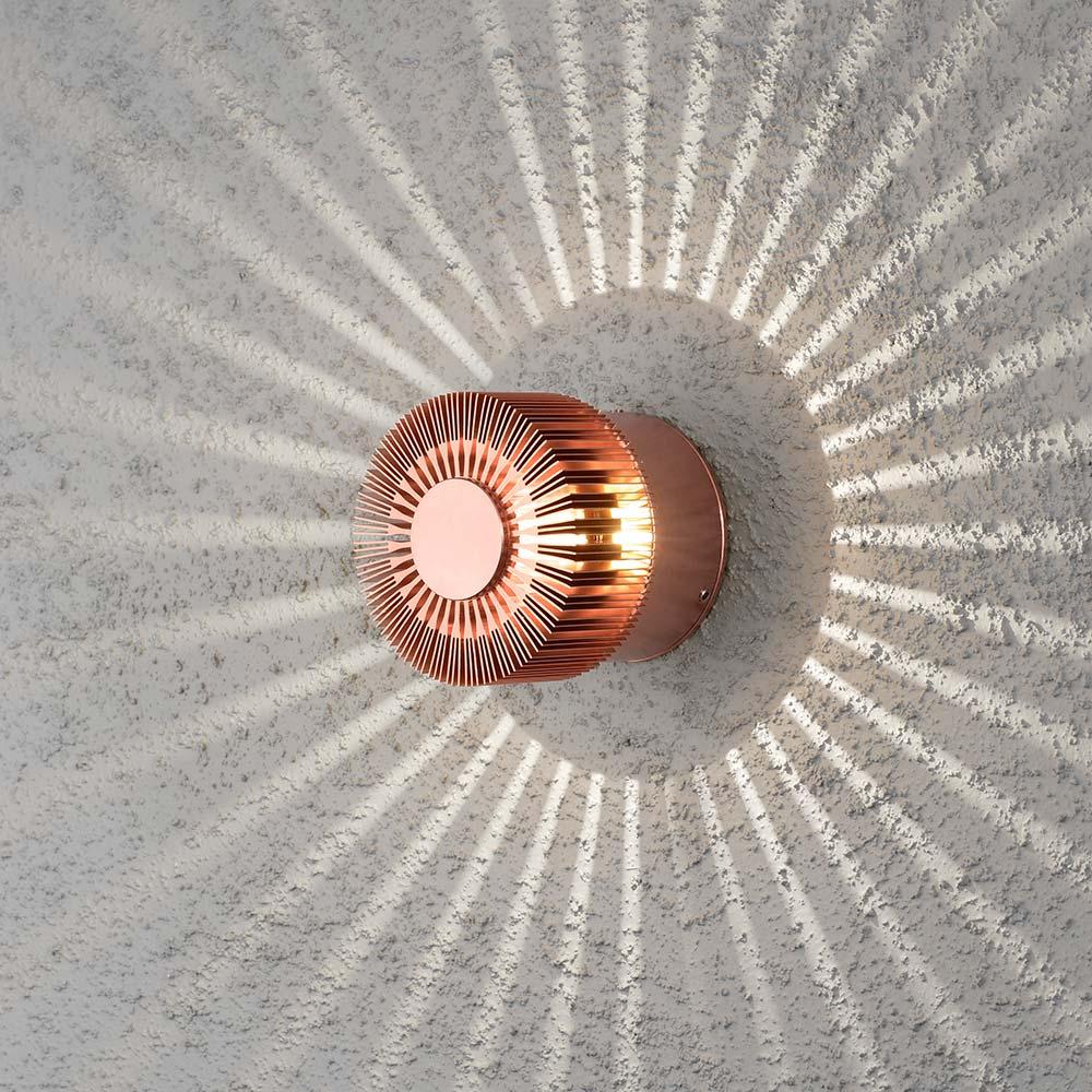 Konstsmide 7900-900 Monza LED Effekt Aussen-Wandleuchte Kupferfarben