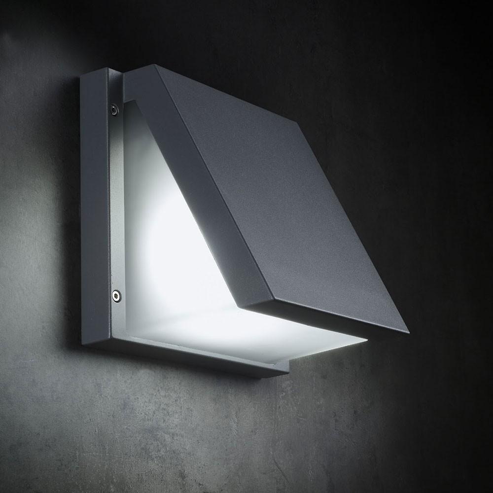 Wandlampe Anthrazit licht-trend victoria led-außenwandleuchte 22cm 550lm wandlampe