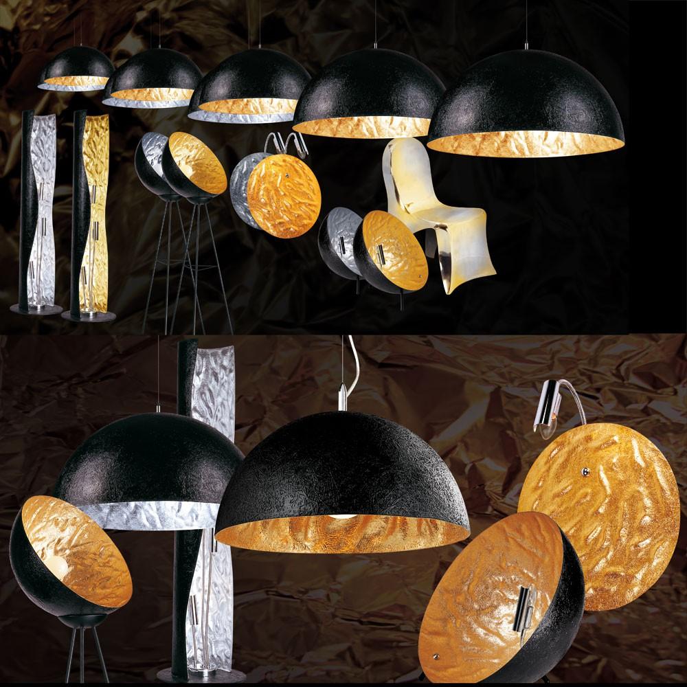 s luce blister stehleuchte 3 flammig 130cm schwarz gold. Black Bedroom Furniture Sets. Home Design Ideas