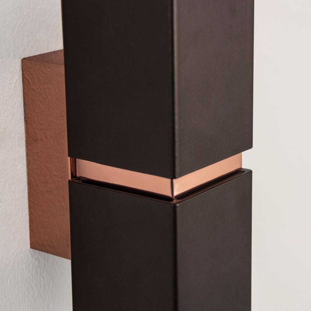 licht trend chime stilvolle up down led wandleuchte braun kupfer led wandlampe kaufen bei. Black Bedroom Furniture Sets. Home Design Ideas