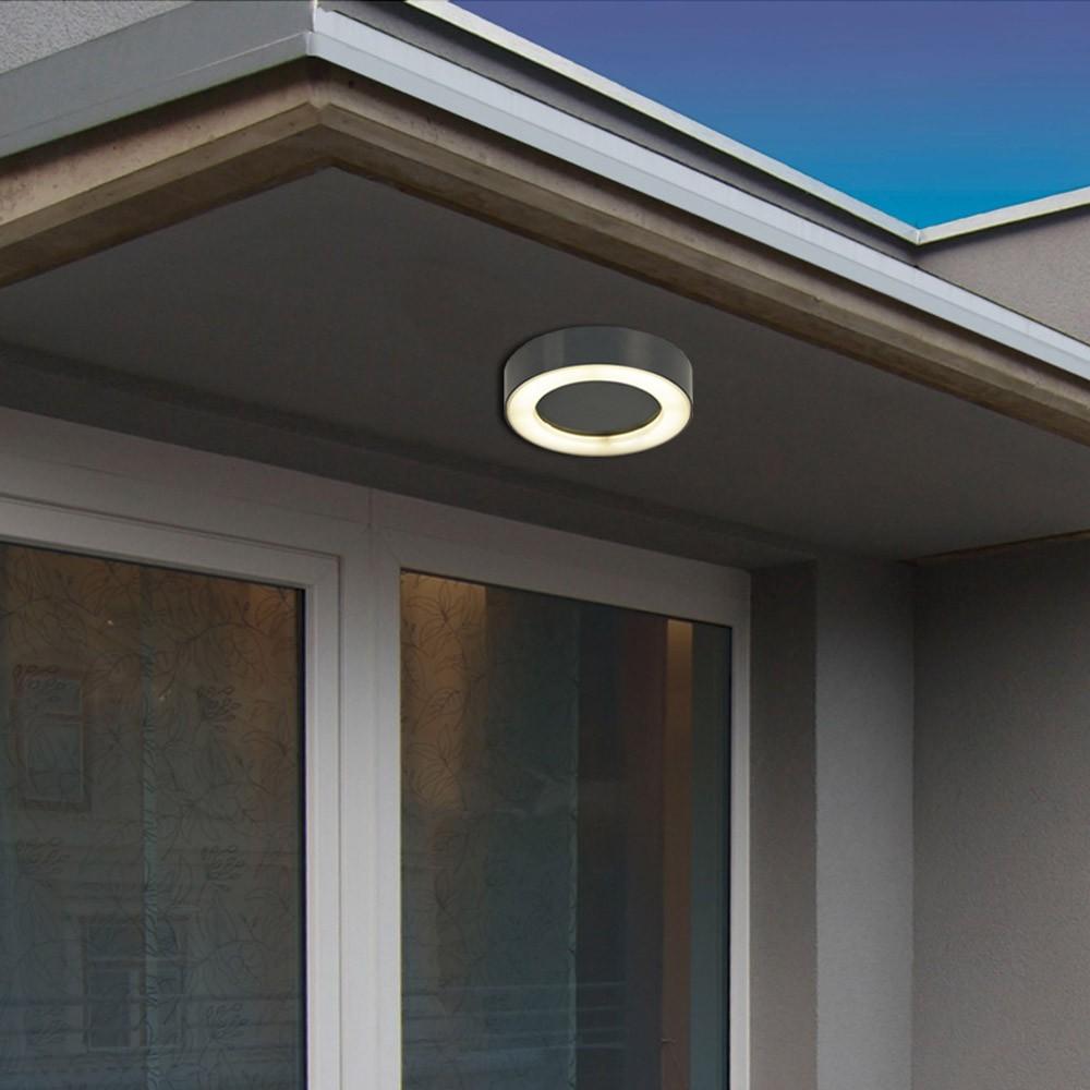 s luce hole led aussenleuchte 20cm wand decke 10w anthrazit wandlampe aussen kaufen bei. Black Bedroom Furniture Sets. Home Design Ideas