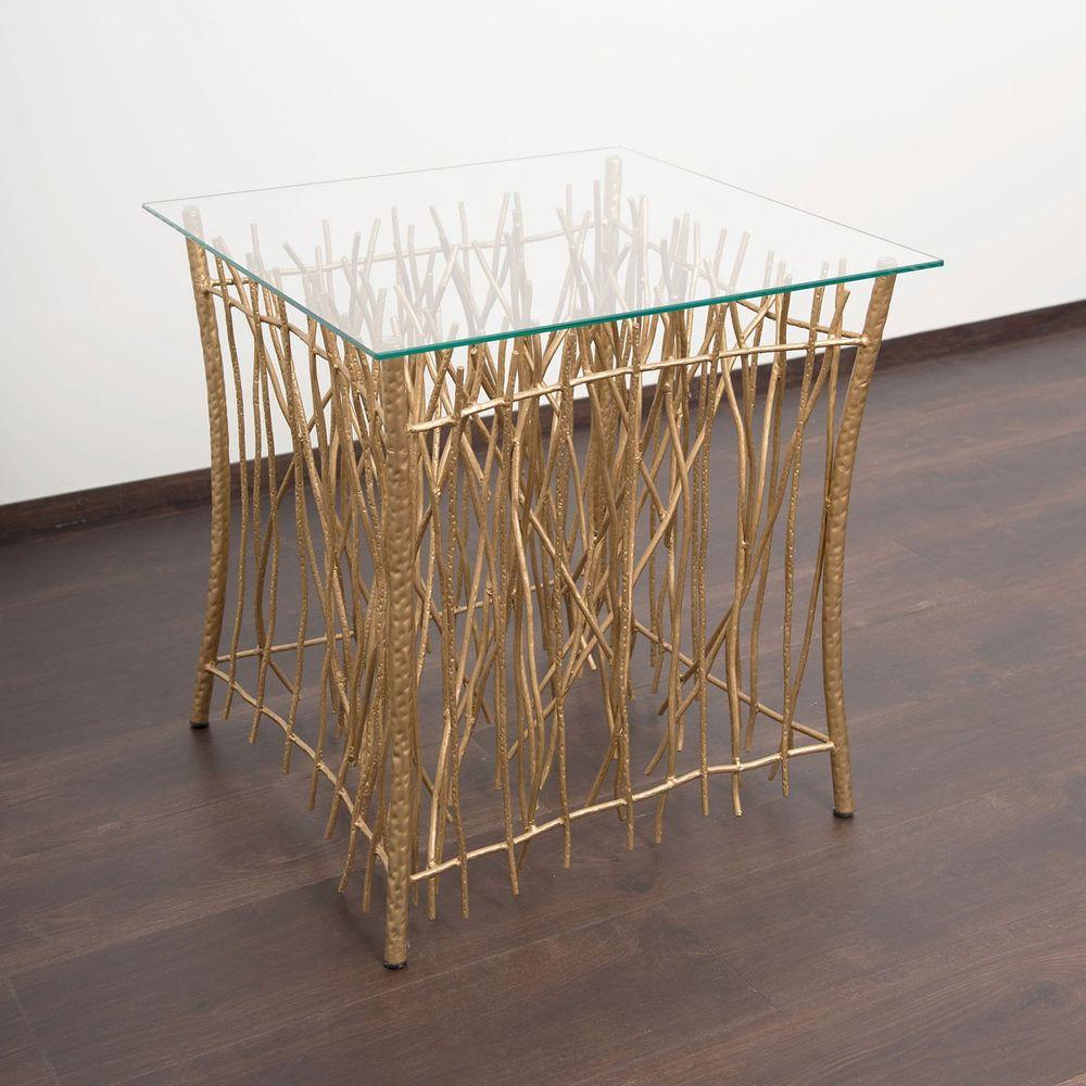 Holländer 280 K 2505 Tisch Relitto Quadrat Metall Glas Gold Kaufen