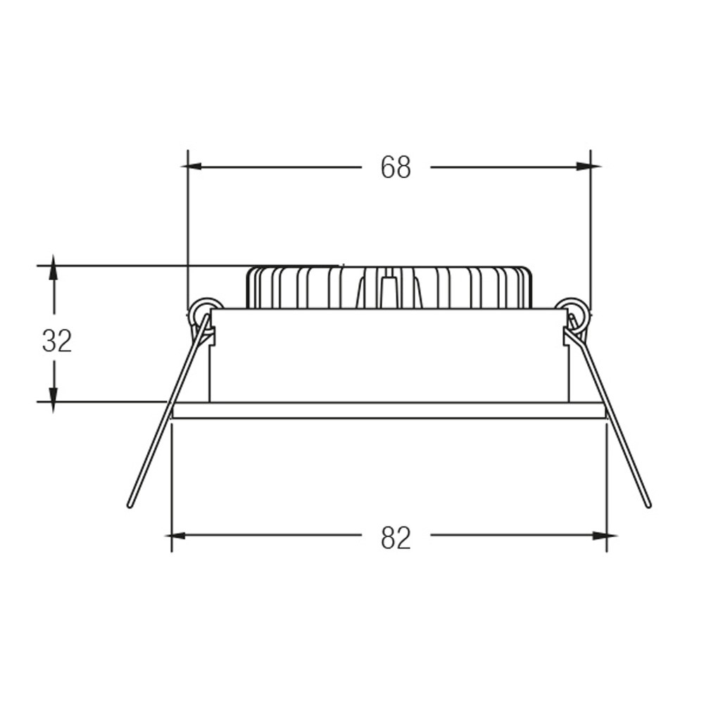 Brumberg LED-Einbaustrahler rund dim2warm /& schwenkbar Alu-Matt LED-Deckenspot
