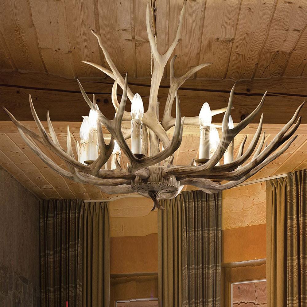 ideal lux 115497 chalet holz geweih l ster 67 6 flammige h ngelampe rustikal kaufen bei. Black Bedroom Furniture Sets. Home Design Ideas