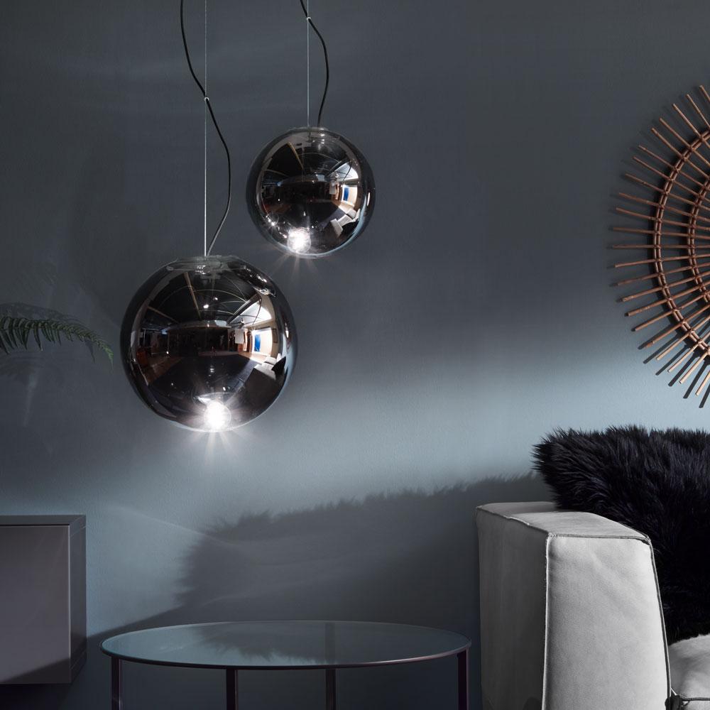 s luce sphere 30 rauchige pendelleuchte glaskugel grau pendellampe glaslampe kaufen bei licht. Black Bedroom Furniture Sets. Home Design Ideas