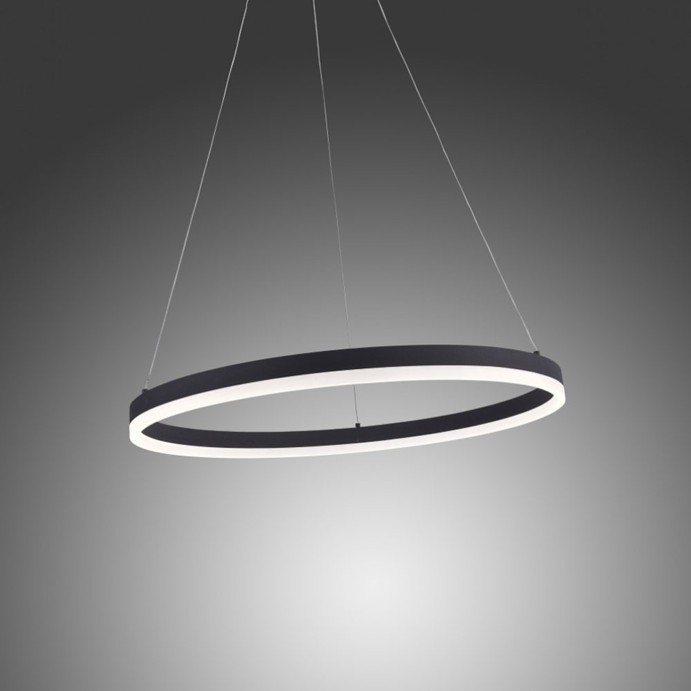 Licht-Trend Ring M LED-Hängeleuchte dimmbar über Schalter Ø 60cm ...