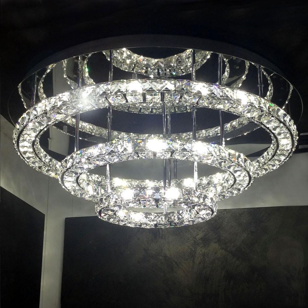 licht trend led deckenleuchte 72 w kristall 75cm. Black Bedroom Furniture Sets. Home Design Ideas