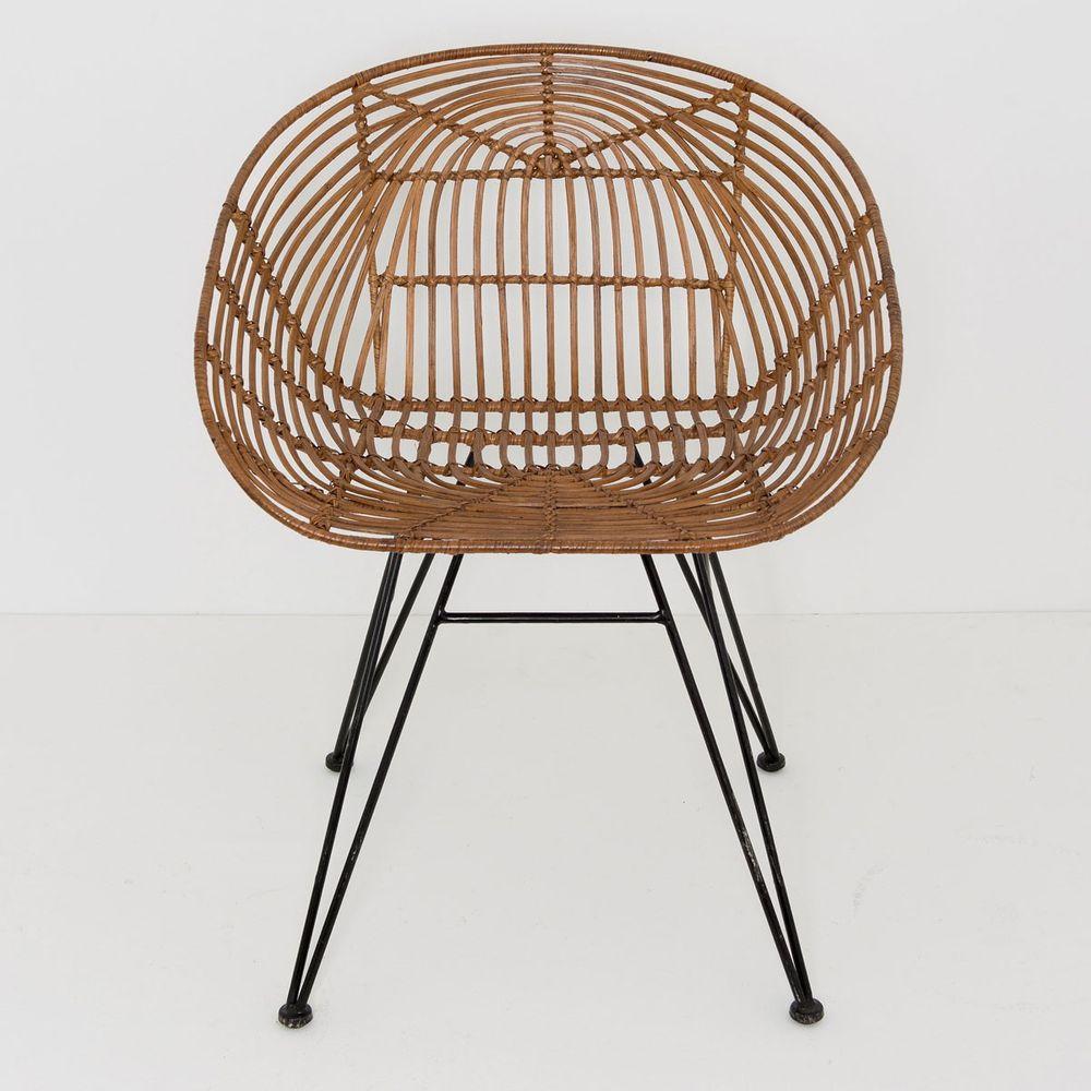 holl nder 358 2715 stuhl mit lehne seguito rattan metall. Black Bedroom Furniture Sets. Home Design Ideas