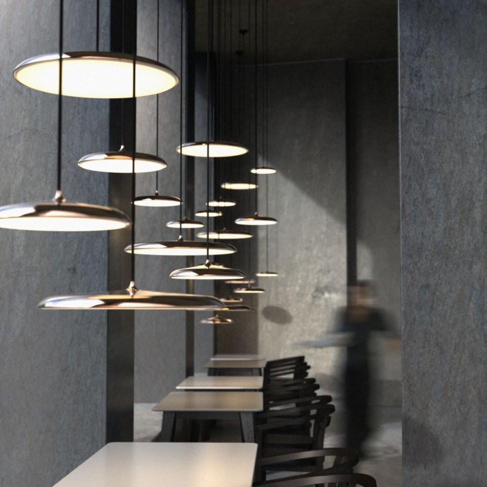 Licht Trend Roccia 25 LED Pendelleuchte Grau Pendellampe